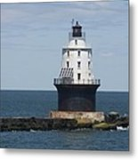 Harbor Of Refuge Lighthouse IIi Metal Print