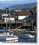 Harbor Sailboats Metal Print