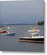 Harbor Scene I - Maine Metal Print