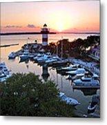 Harbor Town 4 In Hilton Head Metal Print