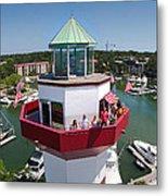 Harbor Town Lighthouse In Hilton Head Metal Print