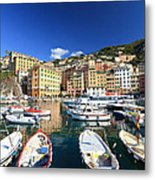 Harbor With Fishing Boats Metal Print