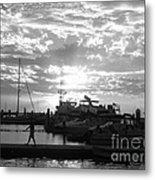 Harbour Clouds Metal Print
