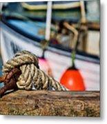 Harbour Knots Metal Print