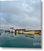 Harbour Overview 2 - Lyme Regis Metal Print