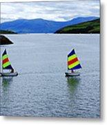 Harbour Sailing Metal Print