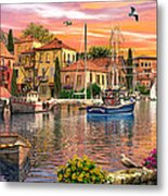 Harbour Sunset Metal Print