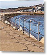 Harbour Wall Promenade Metal Print
