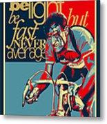 Hard As Nails Vintage Cycling Poster Metal Print by Sassan Filsoof