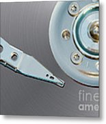 Hard Disc Metal Print