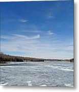 Hard Frozen Lake Metal Print