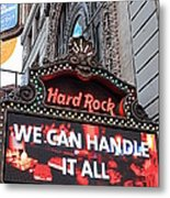 Hard Rock Cafe New York Metal Print