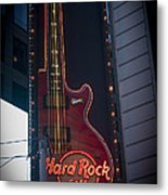 Hard Rock Guitar Nyc Metal Print