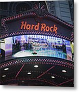 Hard Rock Marquee Nyc Metal Print