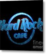 Hard Rock Neon In Space Metal Print