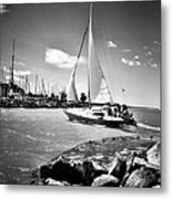 Hard Sailing Metal Print