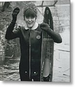 Hardy Jeannette Breaks The Ice At Rickmansworth Aquadrome Metal Print