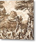 Hare Hunting, Engraved By Wenceslaus Metal Print