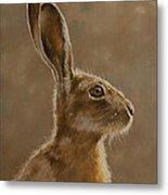Hare Portrait I Metal Print