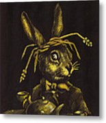 Hare Metal Print by Suzette Broad