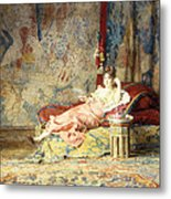 Harem Beauty Metal Print