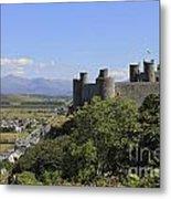 Harlech Castle Snowdonia Metal Print