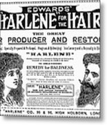Harlene For The Hair, 1897 Metal Print