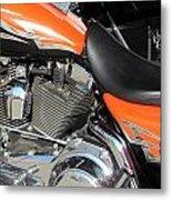 Harley Close-up Orange 1 Metal Print