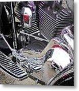 Harley Close-up Purple Lights Metal Print