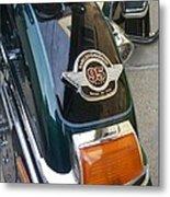 Harley Close-up Tail Light Metal Print