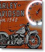 Harley Davidson 1940s Sign Metal Print