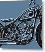 Harley-davidson And Words Metal Print