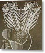 Harley Davidson Engine Metal Print by Dan Sproul