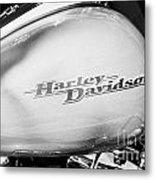 Harley Davidson Logo On Street Glide Bike Orlando Florida Usa Metal Print