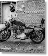 Harley In Black And White Metal Print