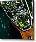 Harley Tank In Oils Metal Print
