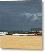 Harlyn Bay In Cornwall Metal Print