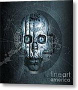 Harmagedon Blue-gray Metal Print
