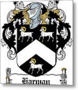 Harman Coat Of Arms Carlow Ireland Metal Print