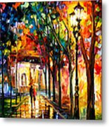 Harmony - Palette Knife Oil Painting On Canvas By Leonid Afremov Metal Print