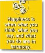 Harmony Yellow Metal Print
