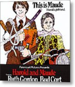 Harold And Maude, L-r Bud Cort, Ruth Metal Print