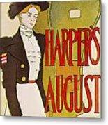 Harpers August 1897 Metal Print