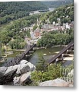 Harpers Ferry Viewed From Maryland Heights Metal Print