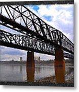Harrahan Railroad Bridges Metal Print