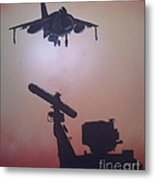 Harrier On Finals Metal Print