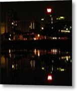 Harrisburg Night Lights Metal Print