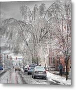 Harrisburg On Ice Metal Print