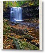 Harrison Wright Falls In Autumn Metal Print