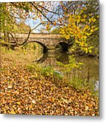 Hartford Bridge In Autumn Metal Print